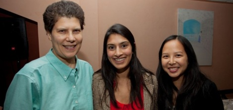Dr. Michele Kaufman (Secretary), Dr. Monica Mehta (Speaker and Past-President), Dr. Mary Choy (President).